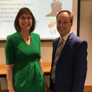 Eve-Turner and Professor Jonathan Passmore presenting on Ethical practice